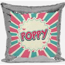 Patterned Silver Sequin Cushion 463