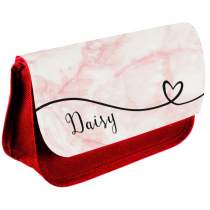 Marble Pencil Case Red 388
