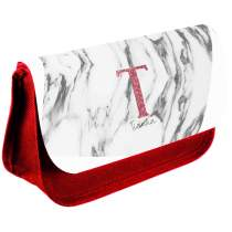 Marble Pencil Case Red 392