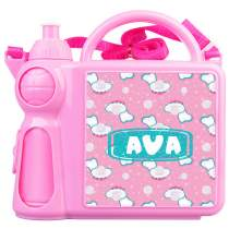 Patterned Lunch Box + Water Bottle Pink 22