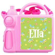 Bee Lunch Box + Water Bottle Pink 32