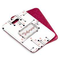 Patterned Pink Glitter Luggage Tag 7